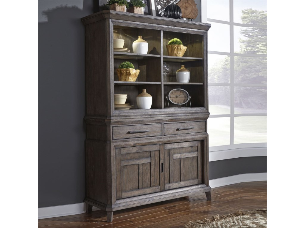 Liberty Furniture Artisan PrairieHutch & Buffet
