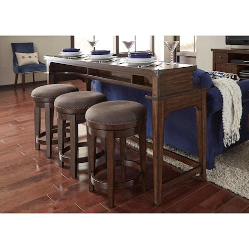 Liberty Furniture Aspen Skies Counter Height Sofa Table