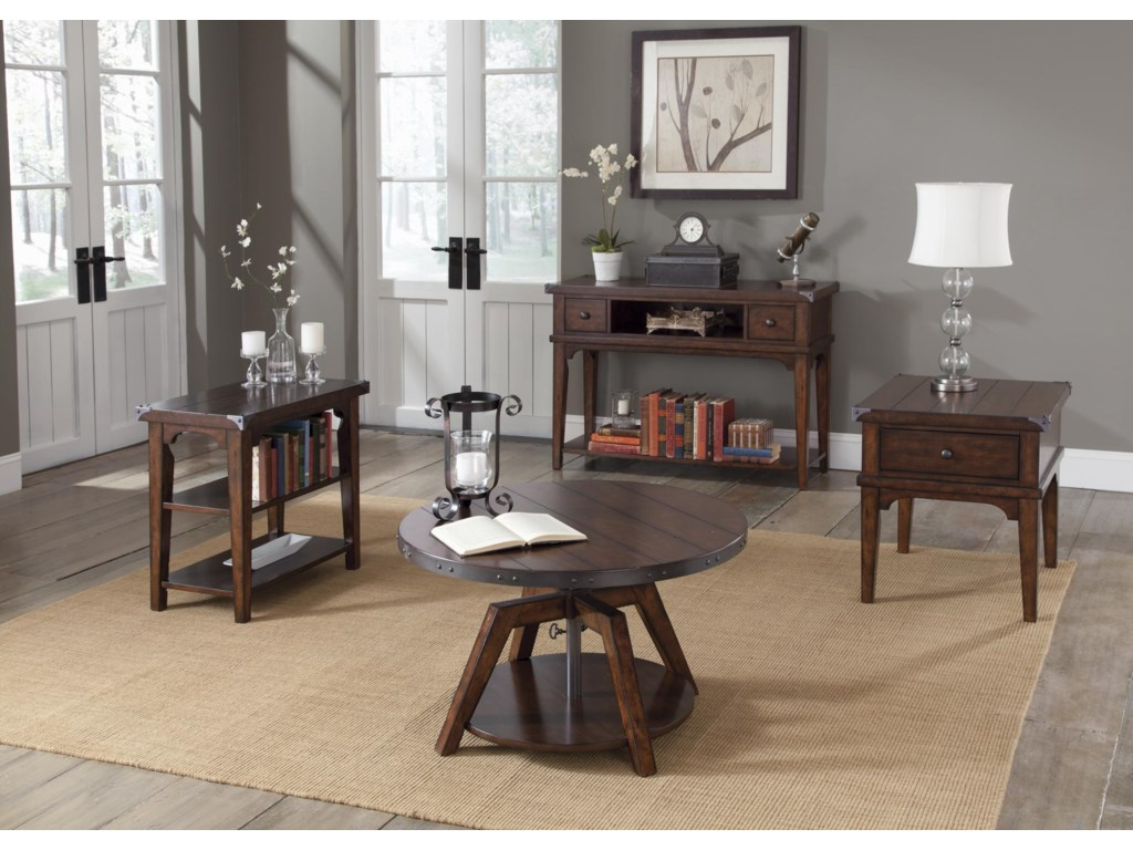 Liberty Furniture Aspen SkiesChairside End Table
