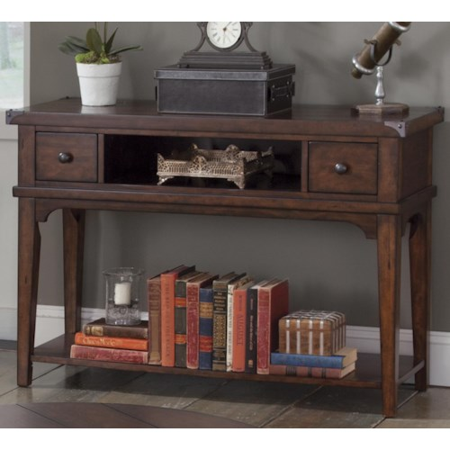 Liberty Furniture Aspen Skies Industrial Casual Sofa Table