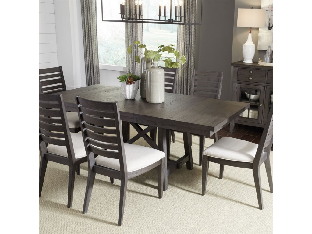 Liberty Furniture Atwood Creek7 Piece Trestle Table Set