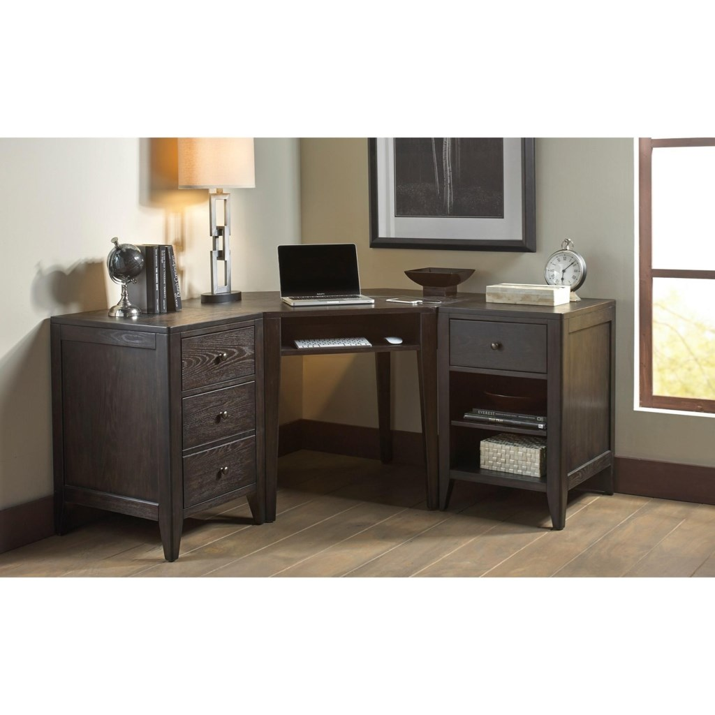 Liberty Furniture Autumn Oaks II 530 HO OD Home fice L Shape Desk