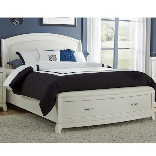 Liberty Furniture Avalon II Queen Platform Leather Bed with Storage