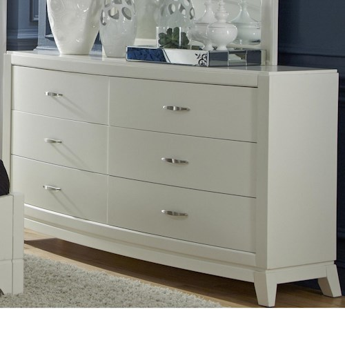 Liberty Furniture Avalon II 6 Drawer Dresser with Tapered Feet