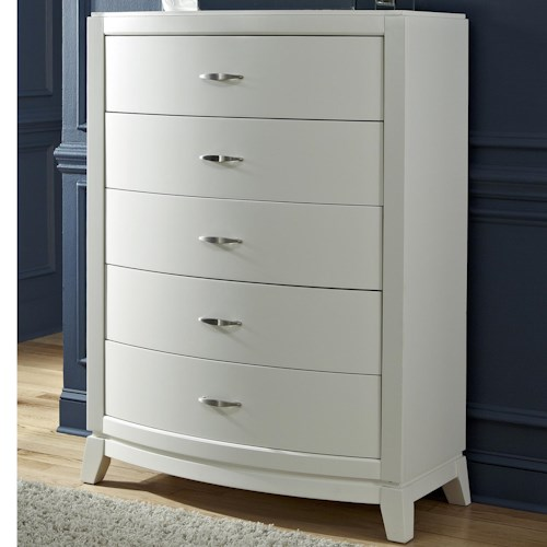Liberty Furniture Avalon II 5 Drawer Chest with Dovetail Drawers