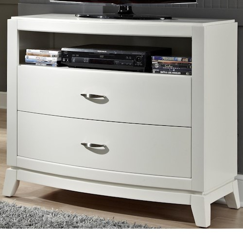 Liberty Furniture Avalon II Media Chest with 2 Drawers and 1 Shelf