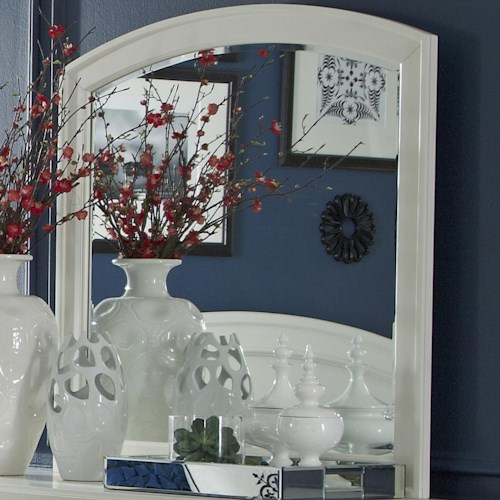 Liberty Furniture Avalon II Arch Top Dressing Chest Mirror with Bevel