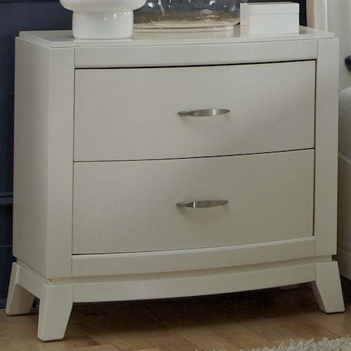 Liberty Furniture Avalon II 2 Drawer Night Stand with Tapered Feet