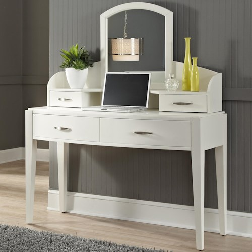 Liberty Furniture Avalon II Vanity with 4 Drawers and Mirror