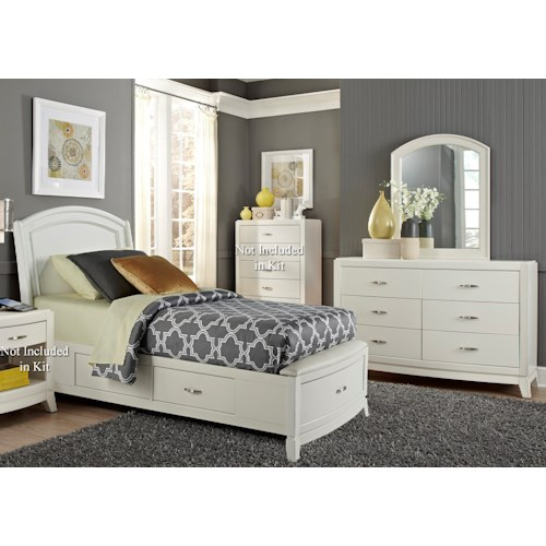 Liberty Furniture Avalon II Twin Storage Bedroom Group 1