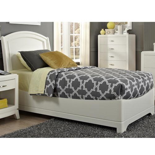 Liberty Furniture Avalon II Full Platform Bed with Arched Headboard