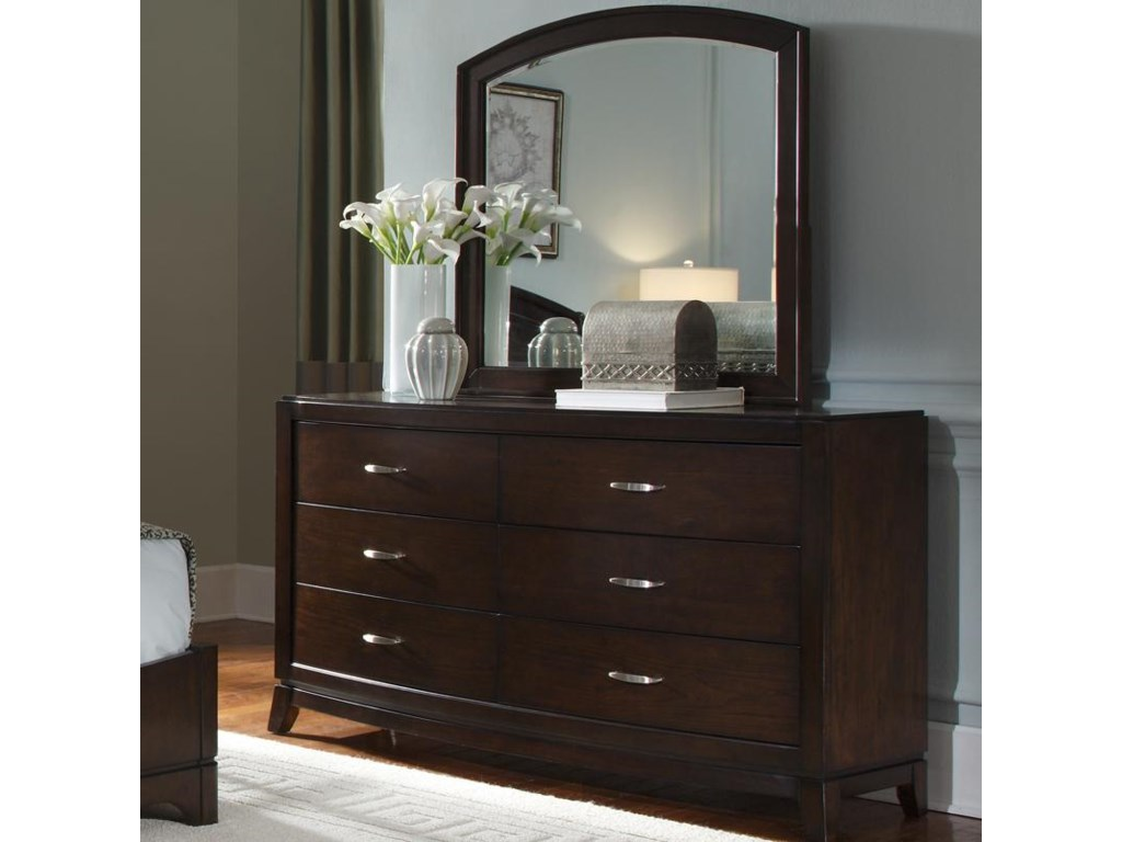 Liberty Furniture AvalonDresser & Arch Top Mirror