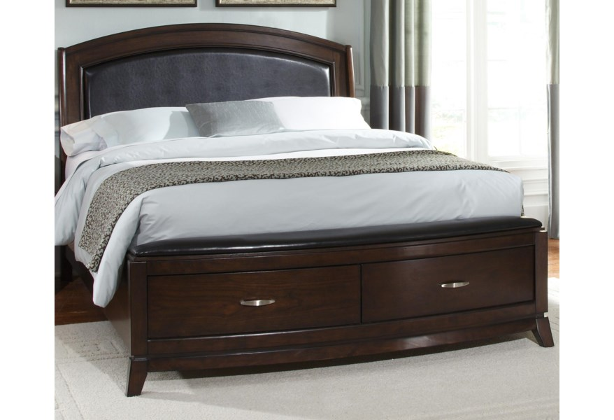 Liberty Furniture Avalon Queen Platform Leather Bed With Storage Value City Furniture Platform Beds Low Profile Beds