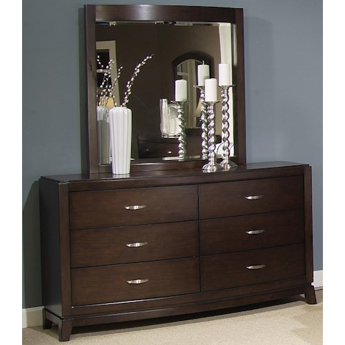 Liberty Furniture Avalon Dresser & Lighted Mirror Set
