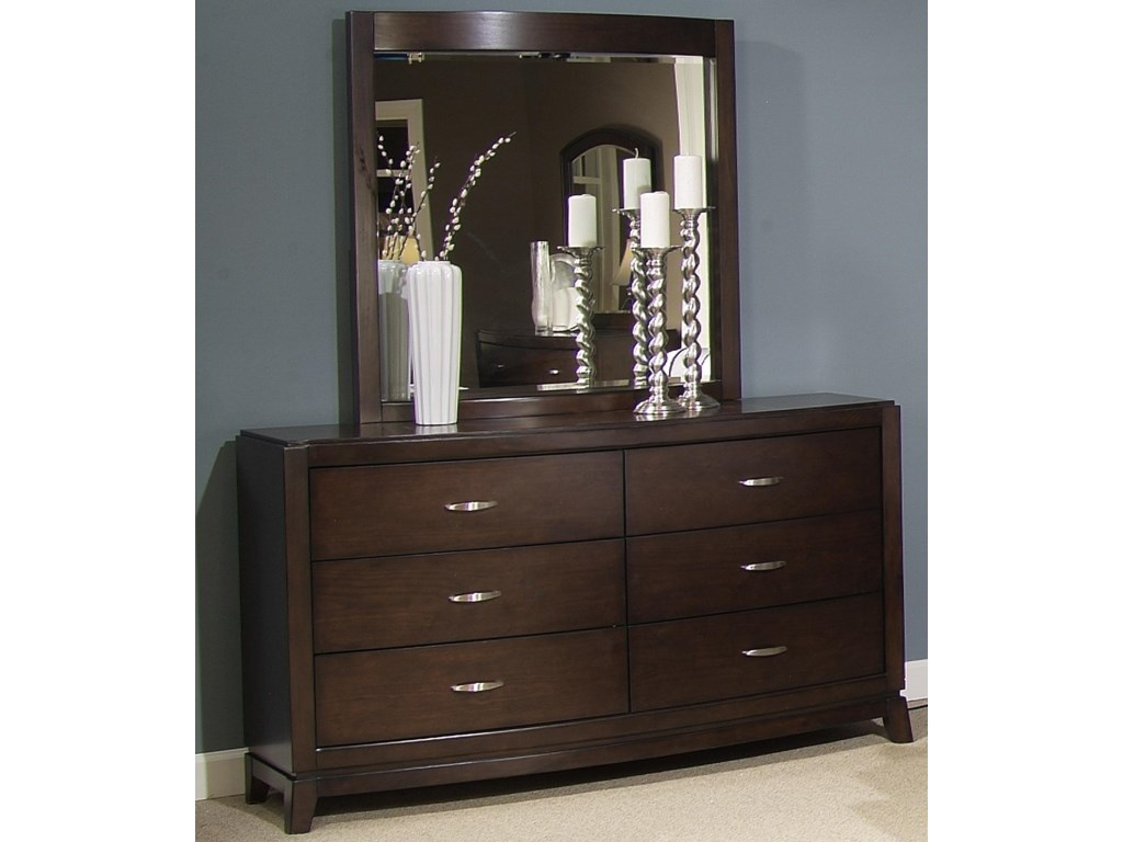 Liberty Furniture AvalonDresser & Lighted Mirror