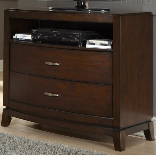 Liberty Furniture Avalon Media Chest with 2 Drawers and 1 Shelf