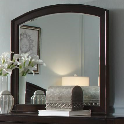 Arch Top Dressing Chest Mirror with Bevel