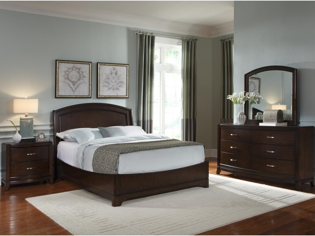 Shown with Night Stand, Platform Bed & Dresser