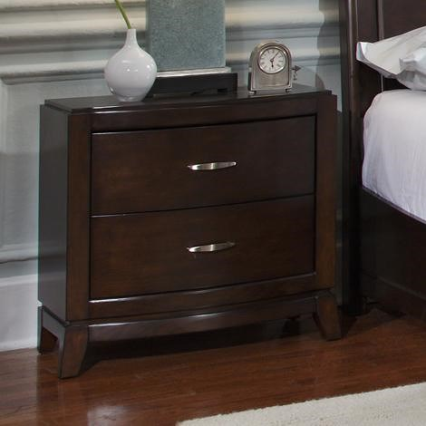 Liberty Furniture Avalon 2 Drawer Night Stand with Tapered Feet