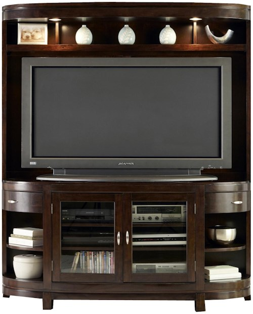 Liberty Furniture Avalon Two-Door TV Stand & Hutch Entertainment Center