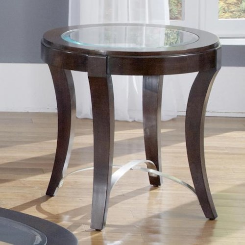Liberty Furniture Avalon Glass Top Oval End Table