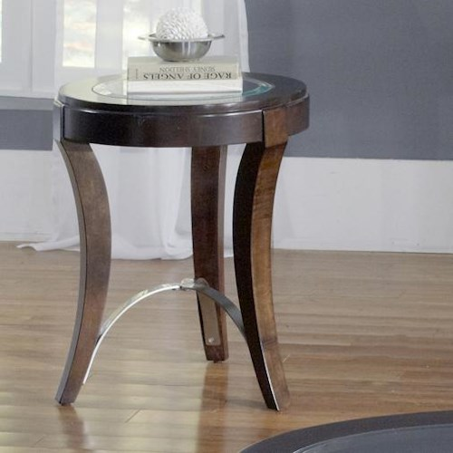 Liberty Furniture Avalon Glass Top Chair Side Table