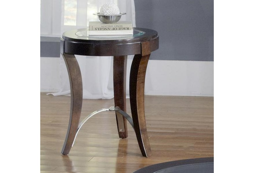 Avalon Glass Top Chair Side Table by Liberty Furniture at Lapeer Furniture  & Mattress Center