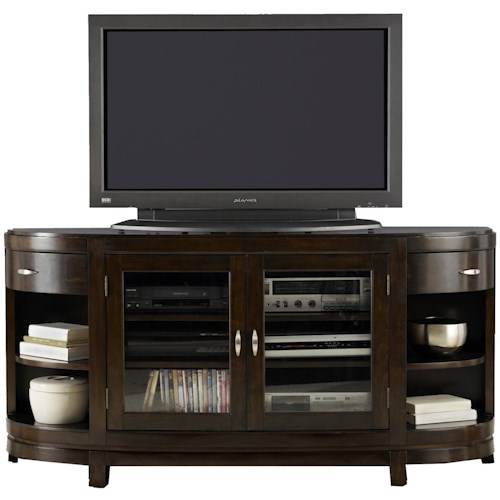 Liberty Furniture Avalon Two-Door Entertainment TV Stand with Drawers and Shelves