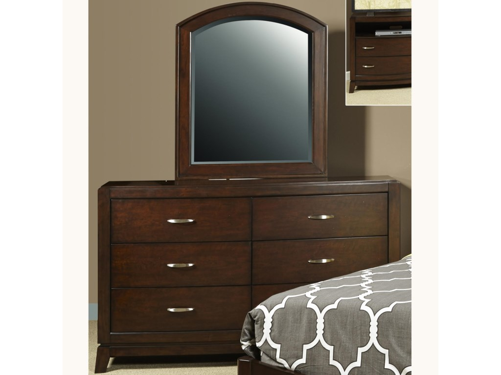 Liberty Furniture AvalonDresser and Mirror