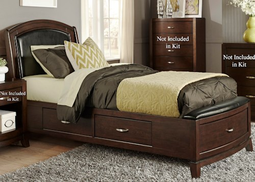 Liberty Furniture Avalon Full One Sided Storage Bed