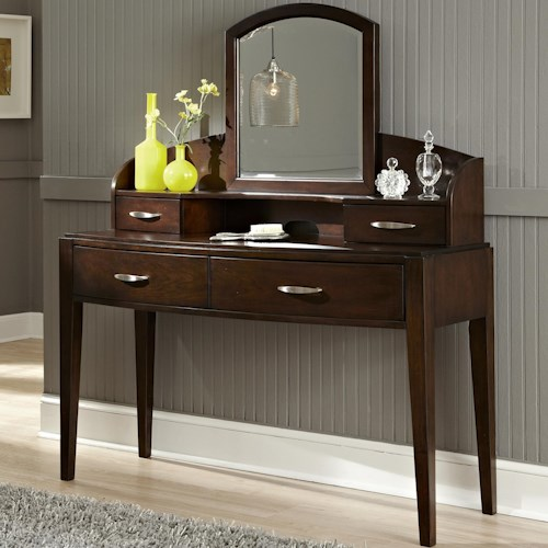 Liberty Furniture Avalon Vanity with 4 Drawers and Mirror