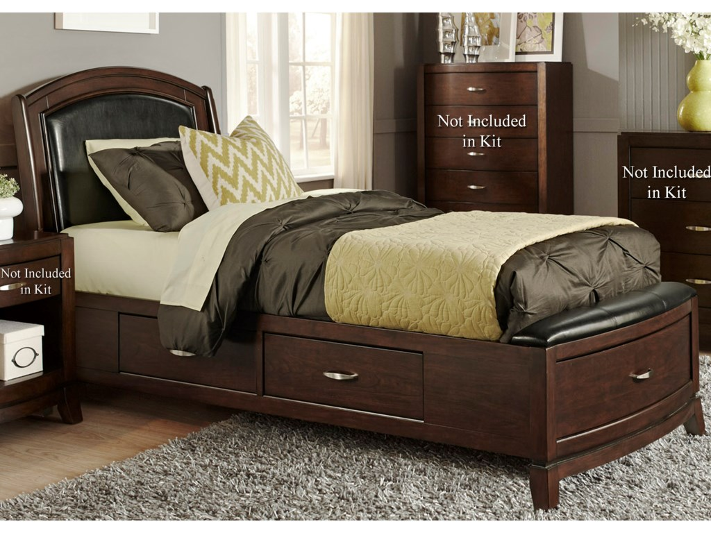 Liberty Furniture AvalonTwin One Sided Storage Bed