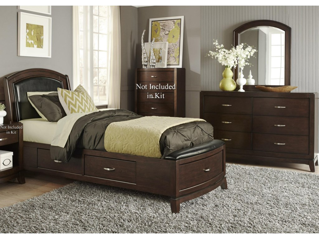 Sarah Randolph Designs AvalonTwin Storage Bedroom Group 1