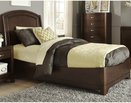 Liberty Furniture Avalon Full Platform Bed with Arched Headboard