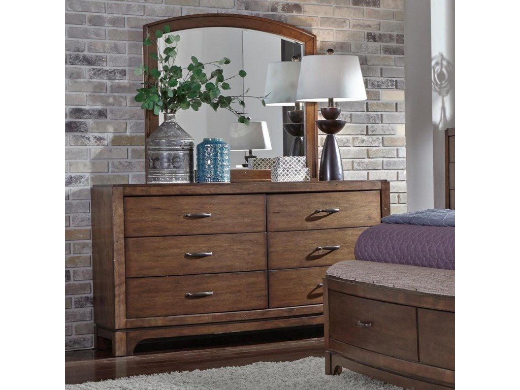 Liberty Furniture Avalon IIIDresser & Arch Top Mirror