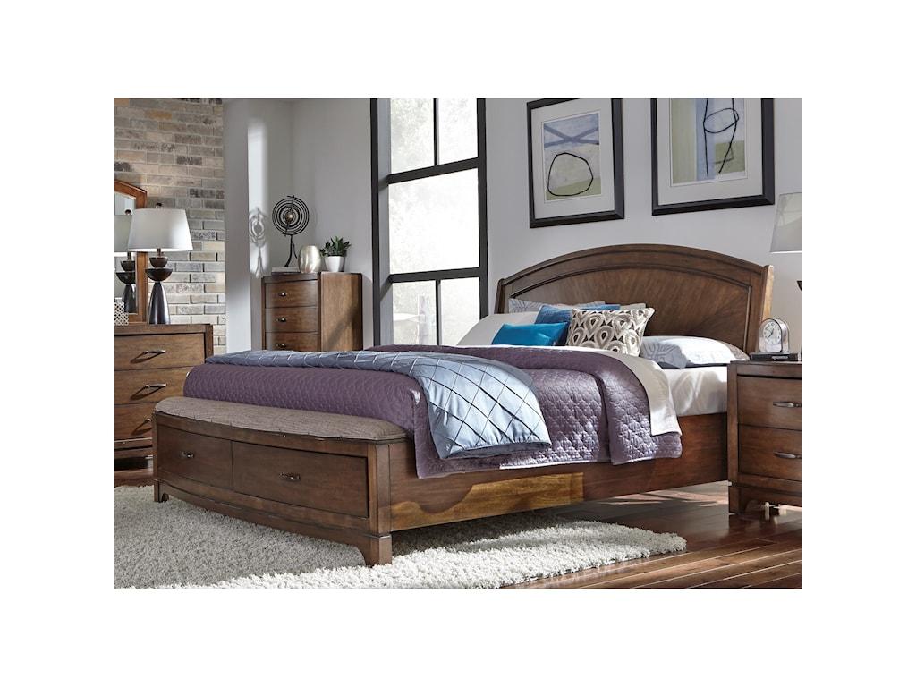 Liberty Furniture Avalon IIIKing Panel Storage Bed