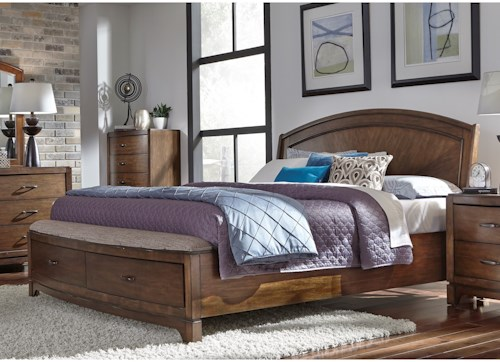 Liberty Furniture Avalon III King Panel Storage Bed