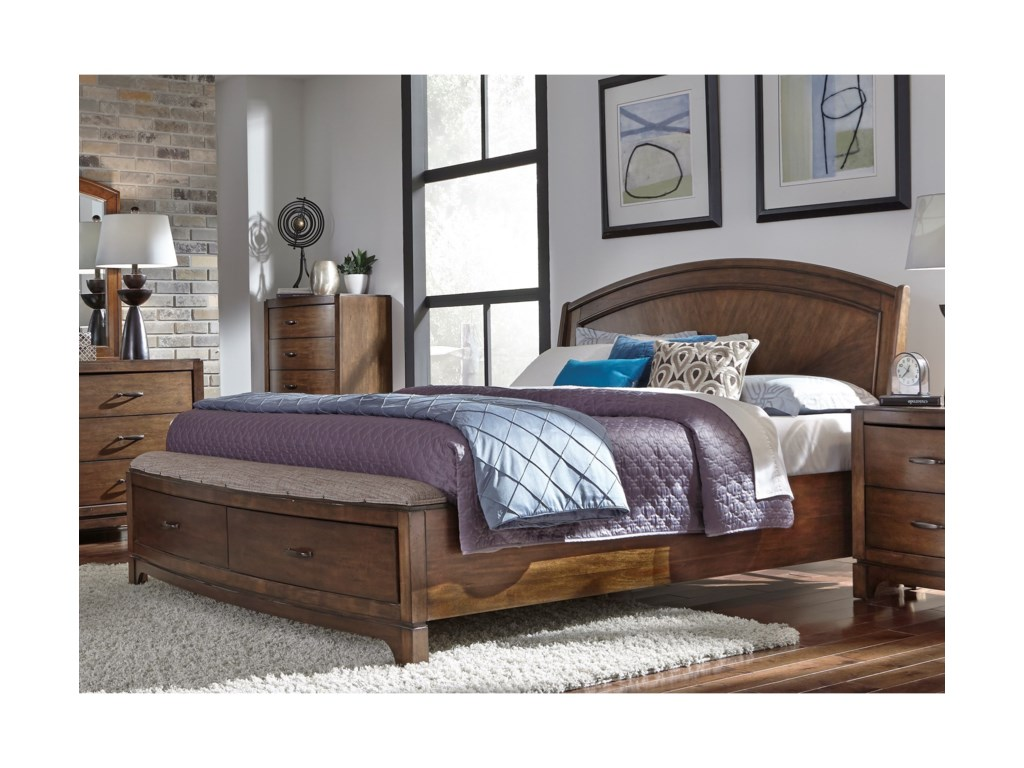 Liberty Furniture Avalon IIIQueen Panel Storage Bed