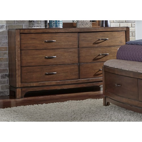 Liberty Furniture Avalon III 6 Drawer Dresser with Tapered Feet