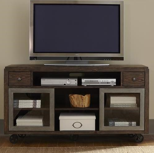 Liberty Furniture Avignon Industrial TV Console with Casters