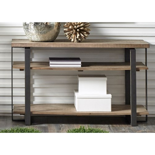 Liberty Furniture Baja Occasional Sofa Table with Two Shelves