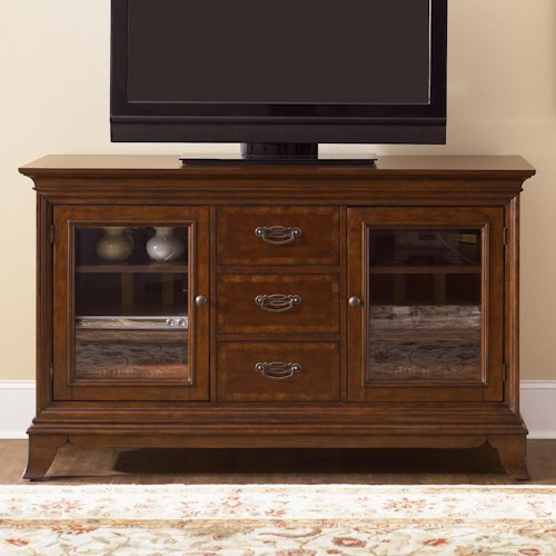 Liberty Furniture Ballentine  Two Door, Three Drawer TV Console with Four Adjustable Shelves