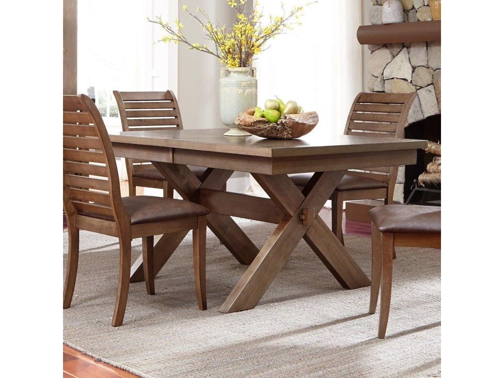 Liberty Furniture Bayside Trestle Dining Table with Butterfly Leaf ...