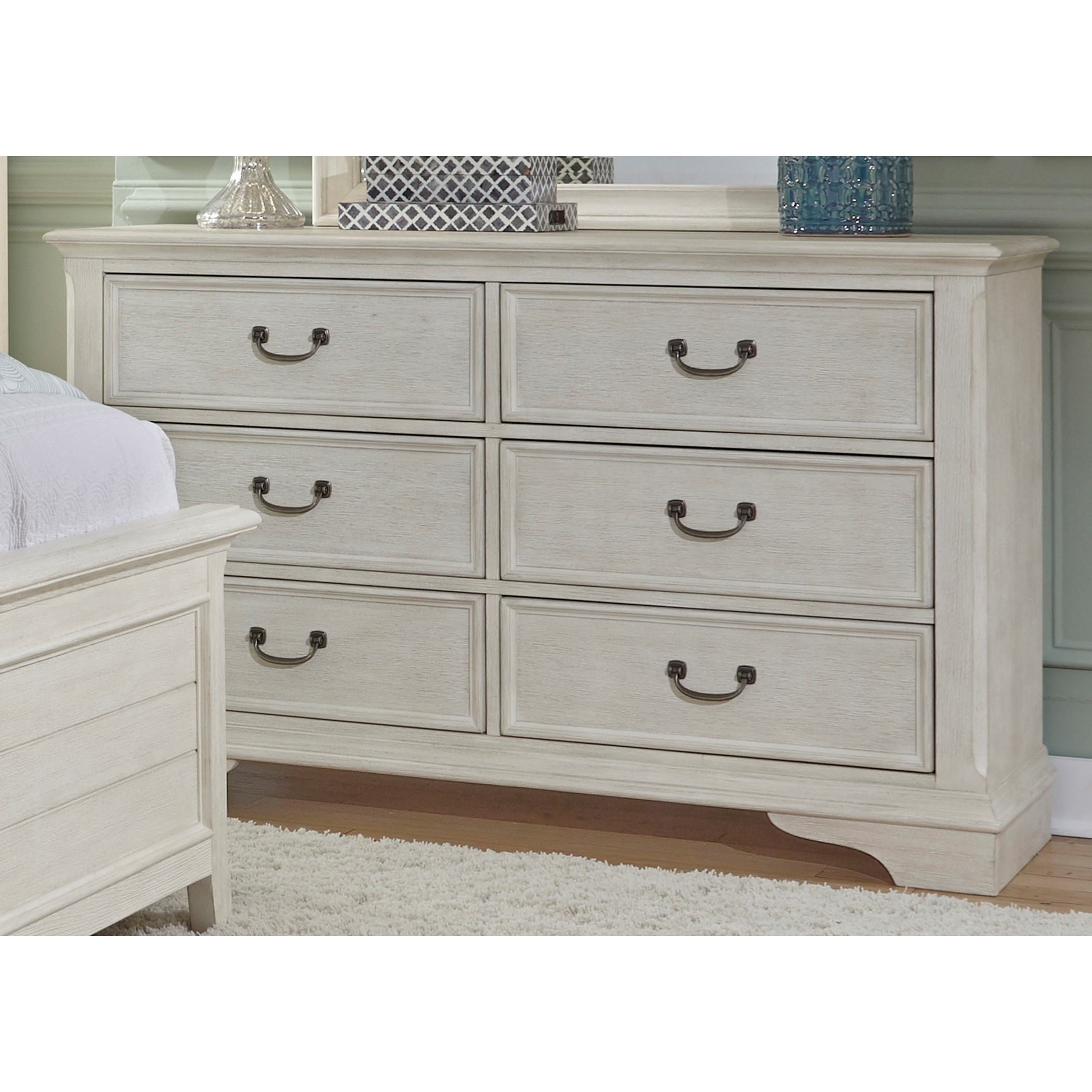Merveilleux Liberty Furniture Bayside Bedroom Transitional 6 Drawer Dresser With Dust  Proof Drawers