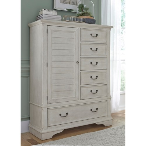 Liberty Furniture Bayside Bedroom Transitional Gentleman's Chest with Dust Proof Drawers