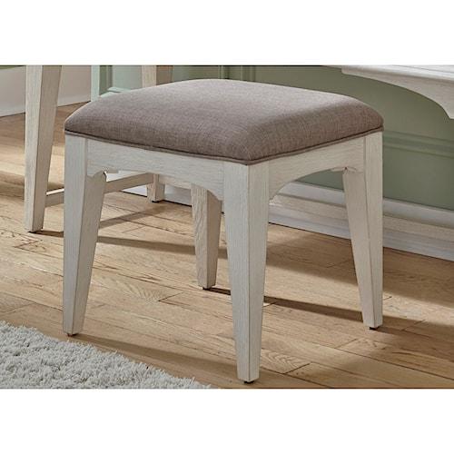 Liberty Furniture Bayside Bedroom Transitional Upholstered Vanity Bench