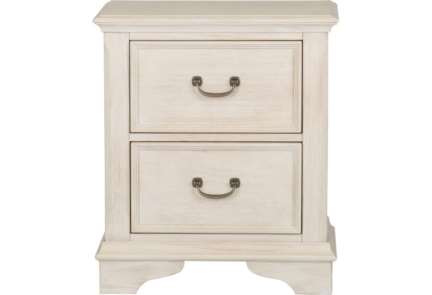 Sarah Randolph Designs Bayside Bedroom Transitional 2 Drawer Night Stand With Felt Lined Top Drawer Virginia Furniture Market Nightstands