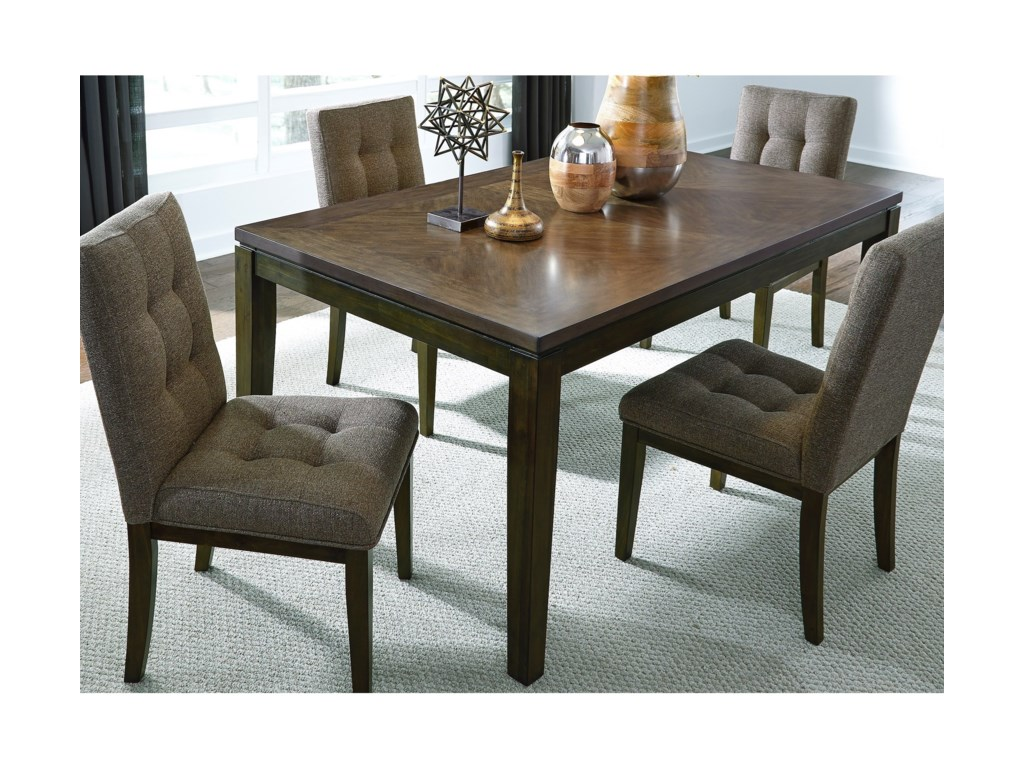 Liberty Furniture Belden Place Contemporary Dining Table With Floating Top Design