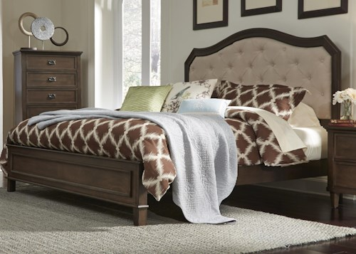 Liberty Furniture Berkley Heights King Panel Bed with Upholstered Headboard