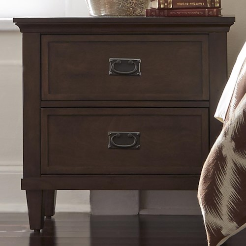Liberty Furniture Berkley Heights Nightstand with Two Dovetail Drawers